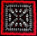 2017 New Fashion Hip Hop Skull Paisley Bandanas For Women/Mens Head Scarf Scarves Free Shipping