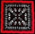 2017 Nueva Moda Hip Hop Cráneo Paisley Pañuelos Para Las Mujeres/Hombres Pañuelo De Cabeza Bufandas Envío Gratis