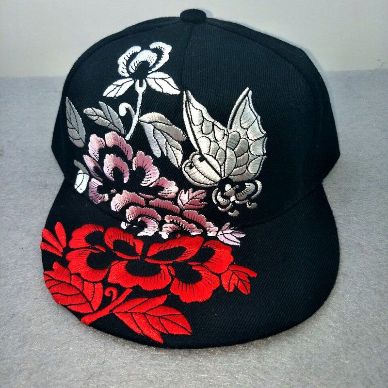 Flower Baseball Cap Women Floral Snapback Hats For Female Hip Hop China Style Sun Visor Cap Sunhat Femmes 2017 New Summer