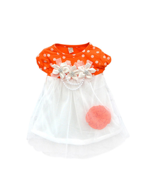 Hot Sell Baby Girls Dress 4 Colors Kids Wear Princess Dress Kids Clothing Dresses