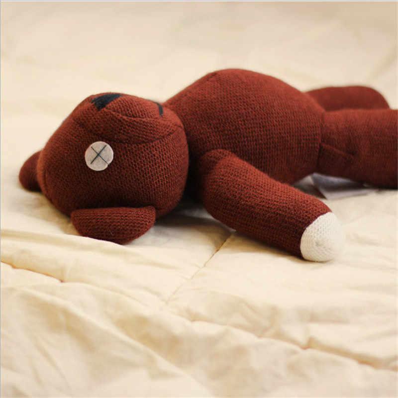 Vendita Calda 35 Centimetri Genuino Mr. di Fagioli Peluche Teddy Bear Giocattoli Carino con Personale Giocattoli Bambole Regali Creativi per I Bambini di Compleanno