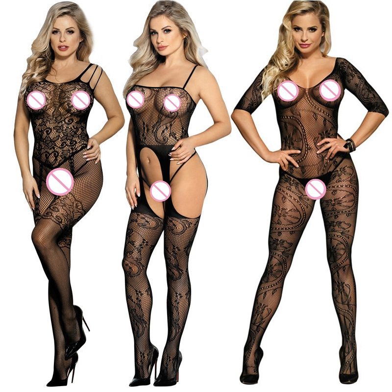 HTB1sZQJLOrpK1RjSZFhq6xSdXXa6 Picardías de encaje transparente para mujer, ropa de dormir de talla grande 6XL, Sexy, camisas para dormir