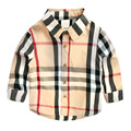 2016 new arrival baby boys shirts spring summer long sleeves children blouse cotton popular england plaid kids clothes 2-8T