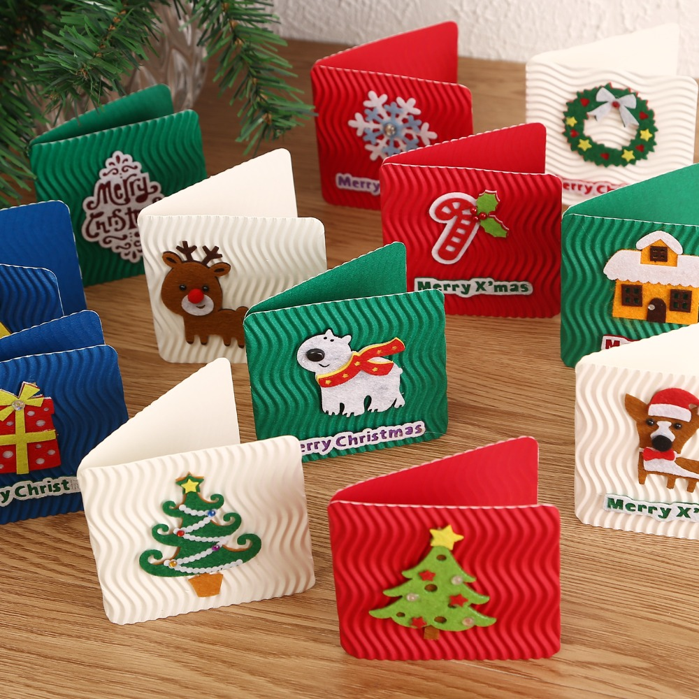 12designs folded xmas cards with envelope christmas