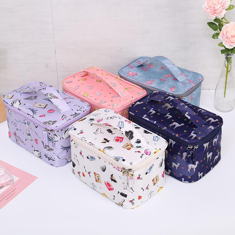 New Multifunction Travel Cosmetic Bag Nylon Makeup Bag Beauty Case Make Up Organizer Toiletry Bag Kits Storage Travel Wash Pouch