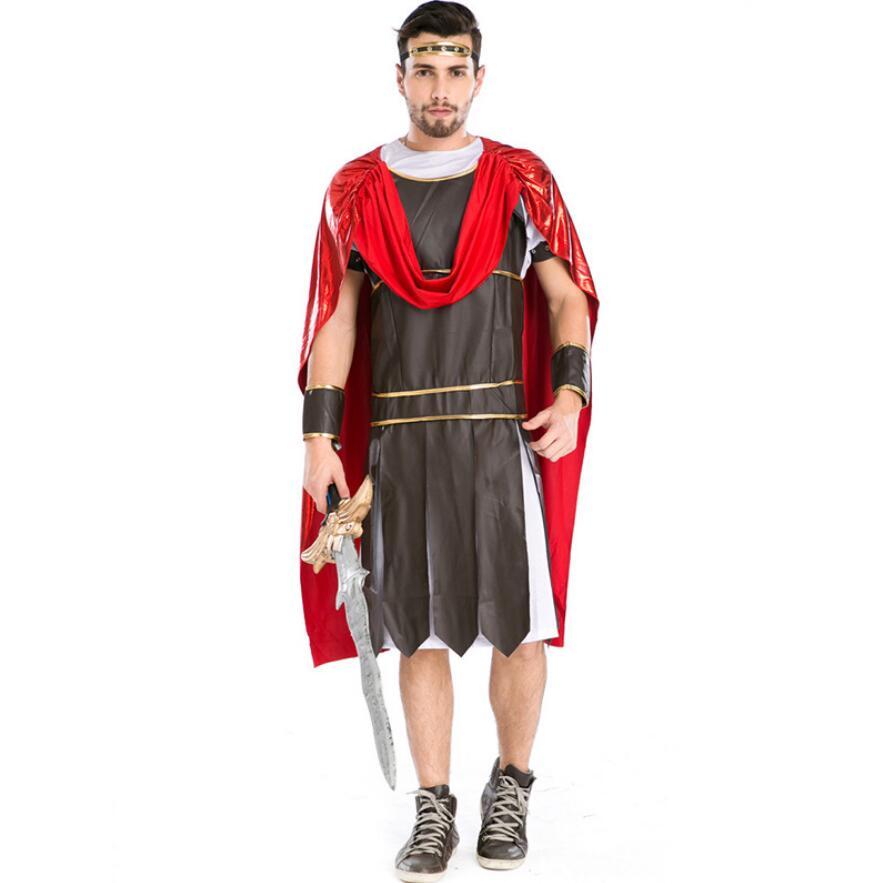 Hot Sale Adult Man Halloween Roman Greek Soldier Cosplay Costume