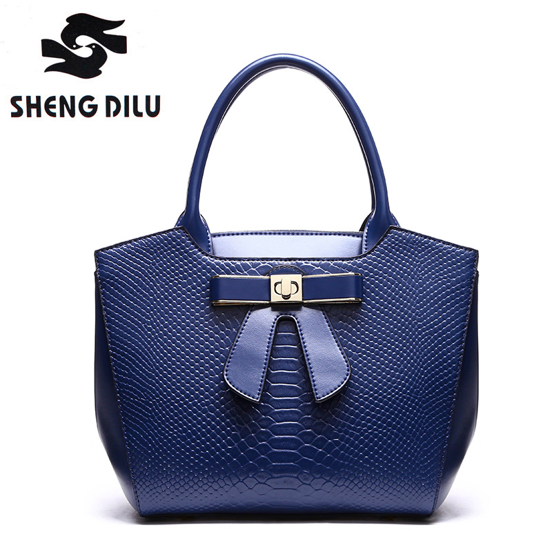 High Quality Genuine Leather Women Handbag New 2017 Luxury Brand Top Handle Bag with Bow Ladies Shoulder Bag Women Casual Totes luxury genuine leather bag fashion brand designer women handbag cowhide leather shoulder composite bag casual totes
