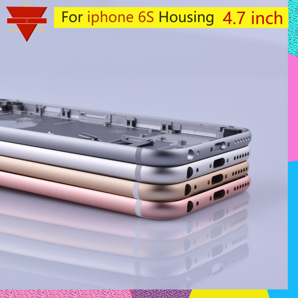 Image 5 - Original quality For iPhone 6S Back Housing Battery Cover Rear Door Case Middle Chassis Replacement For USA or Euro VersionMobile Phone Housings & Frames   -
