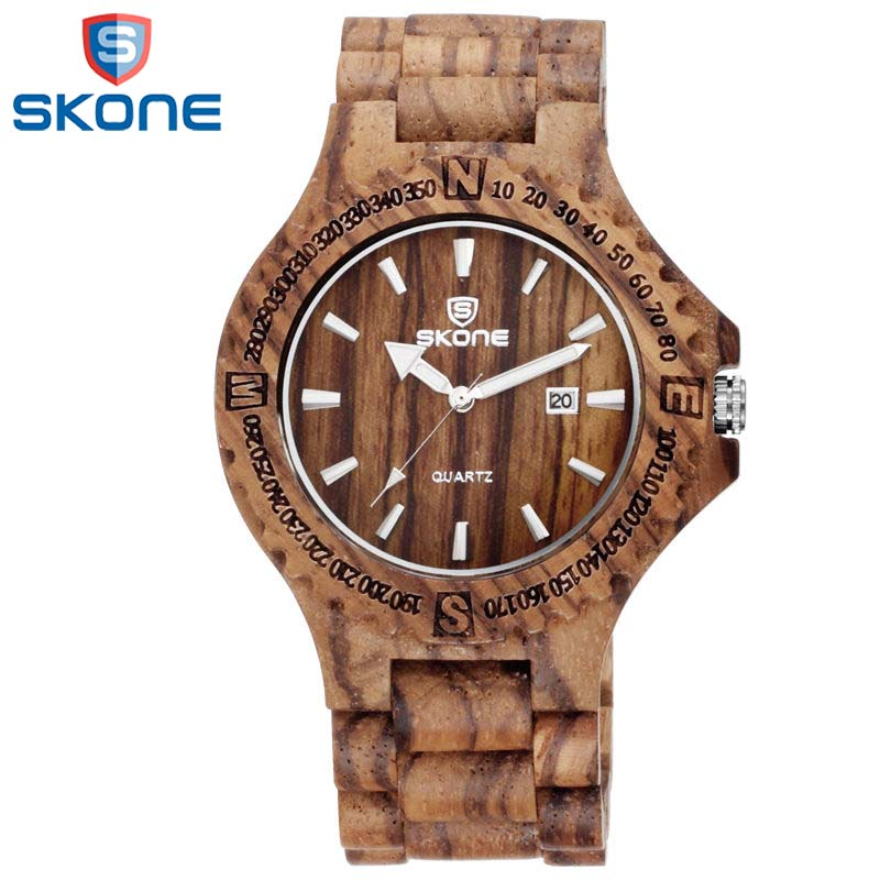 SKONE Wooden Watches Japan Quartz Wristwatch for Men Female Wood Watchband Strap Man's Fashion Casual Watch кольца estet moscow 01o050325