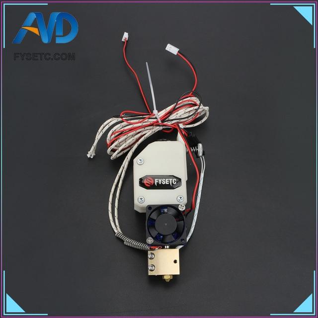 Bmg Extruder V6 Hotend Bowden Extruder dengan PT100 Sensor Dual Drive Extruder untuk Wanhao D9 Creality CR10 Ender 3 Anet e10