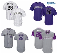 MLB Men S Colorado Rockies Nolan Arenado Baseball White Purple Home Official Cool Base Player Jersey