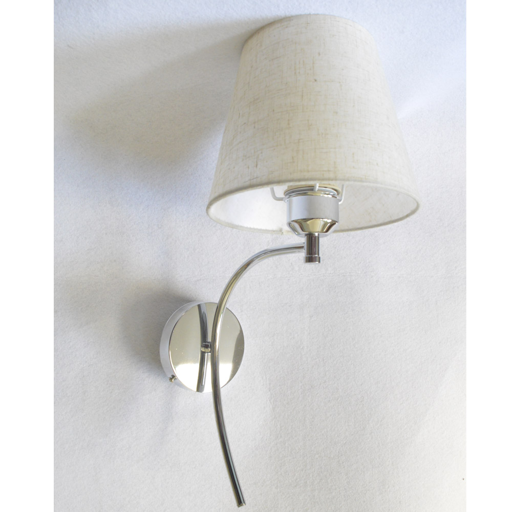 Simple Fabric Tall Wall Light: GLW Mount Wall Lamp Flaxen Fabric Cloth Shade Sconce E27
