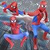 2017 Fashion Red Spiderman Costume Spider Suit Spider Man Costumes Children Kids Boy Spider Man Cosplay