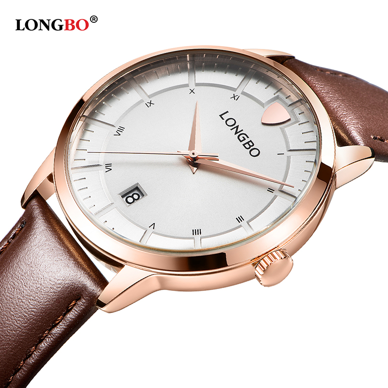 2017 LONGBO Luxury Quartz Watch Casual Fashion Leather Strap Watches Men Women Couple Watch Sports Analog Wristwatch Gift 5025