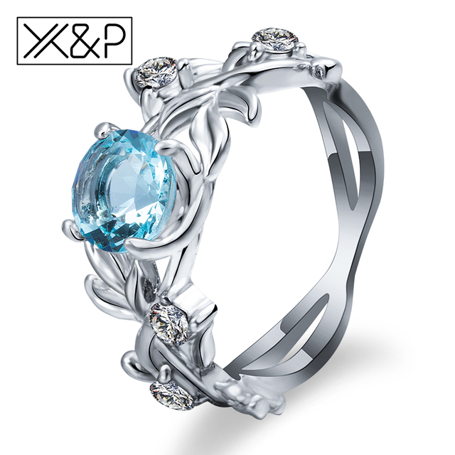 X&P Fashion Charm Alloy Crystal Silver Finger Rings for Women Girl Party Classic