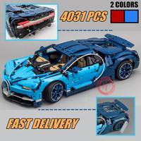 New 4031PCS Technic series Model red blue car fit legoings technic city Racing Car Building Block Brick kid diy Toys gift