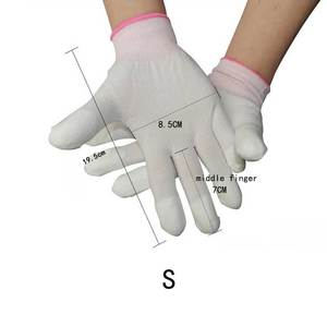 Image 3 - Free Shipping 10 Pairs Anti Static ESD Safe Antistatic Gloves Electronic Working Gloves PU Coated Antiskid For Finger Protection