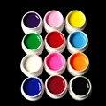12 Шт. твердый пластик цвет цвет светло-терапии устройства 12 цветов УФ-гель для ногтей поставки