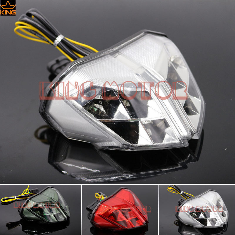 Hot Sale Motorcycle Accessories Integrated LED Tail Light Turn signal Blinker Clear For DUCATI Streetfighter 848 1100 2012-2014 12v 3 pins adjustable frequency led flasher relay motorcycle turn signal indicator motorbike fix blinker indicator p34