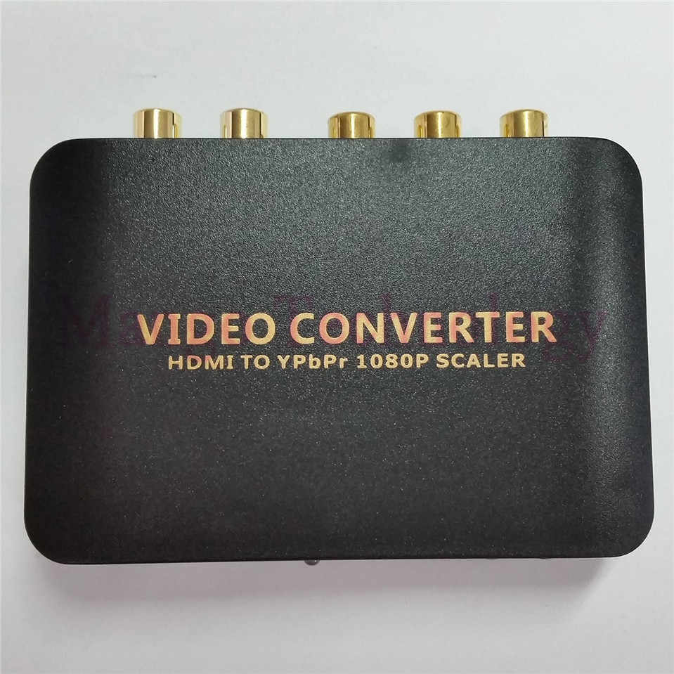 2018 High Quality HDMI To Component Video Ypbpr 5RCA converter HDMI to Ypbpr scaler adapter HDMI
