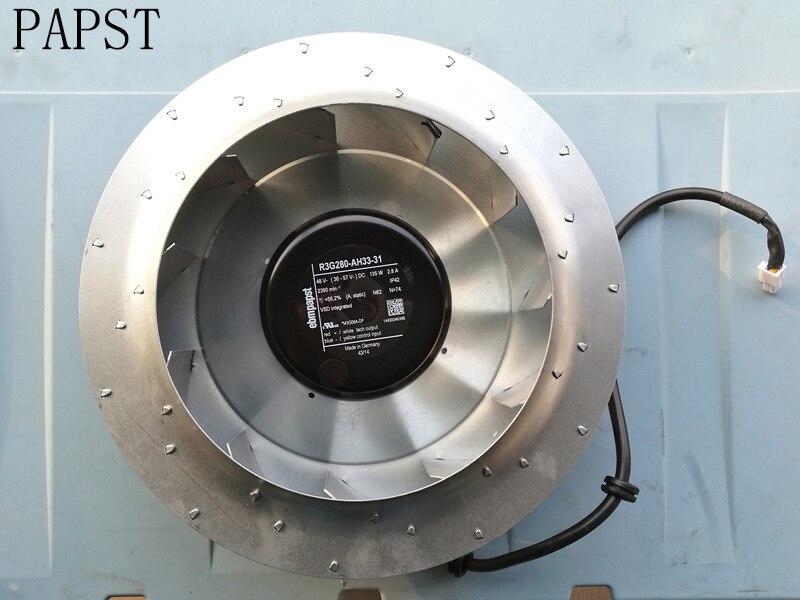 ПАПСТ r3g280 ah33 31 m3g084 df преобразователь частоты вентилятор охлаждения 700 s/h DC 48 В 135 Вт 2.8a