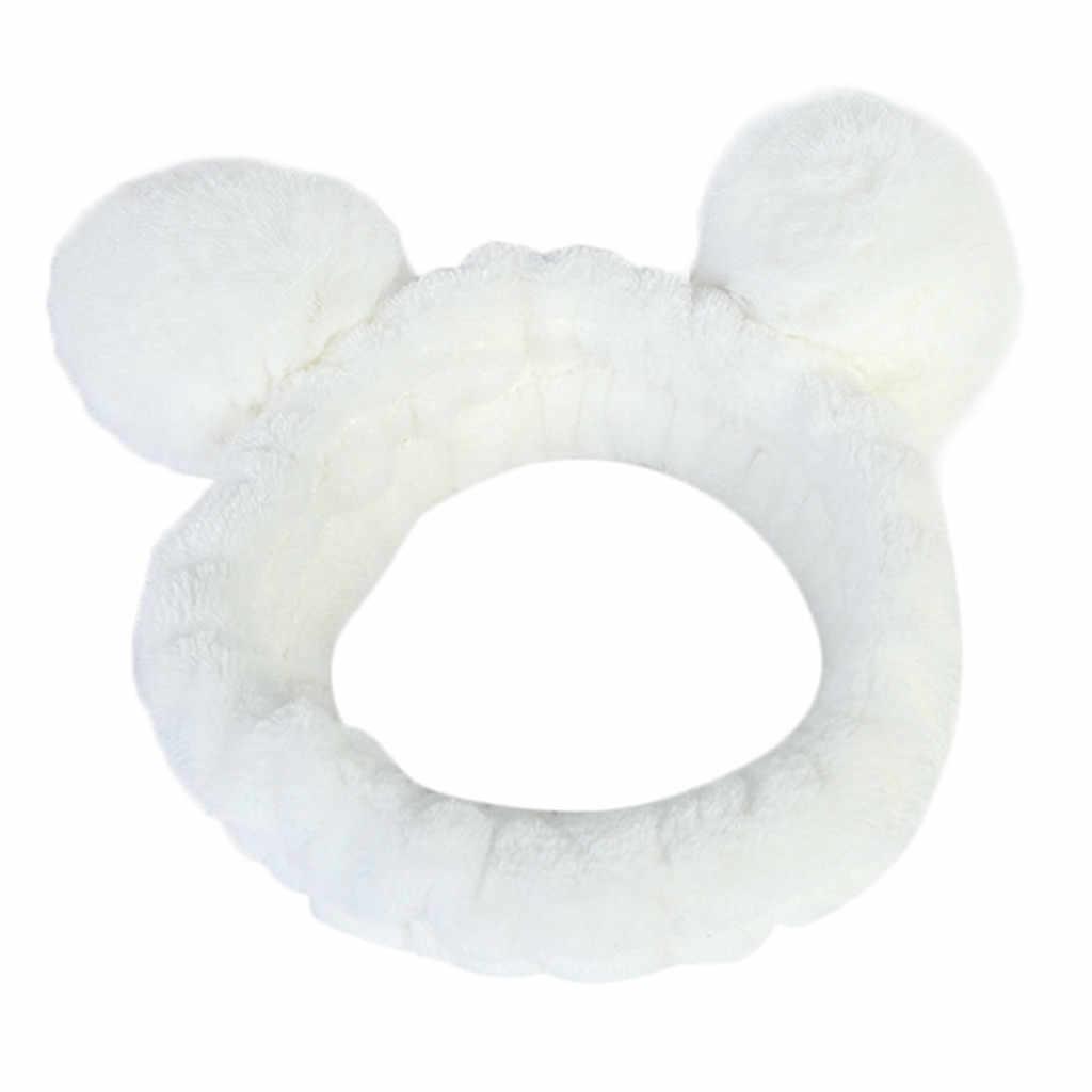 Женская головная Повязка Женская пушистая эластичная резинка для волос лента панда ухо Милая голова Милая повязка для волос аксессуары для волос #30