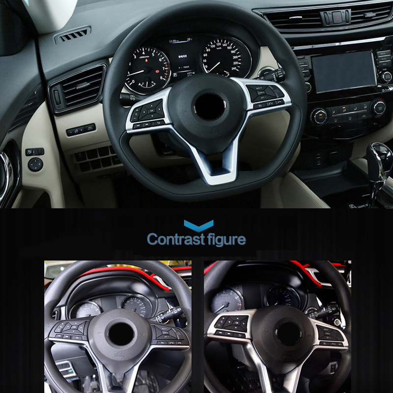 High Equipped For Nissan Kicks 2016 2017 2018 Car Styling ABS Matte Steering Wheel Button Cover Trim Interior Accessories
