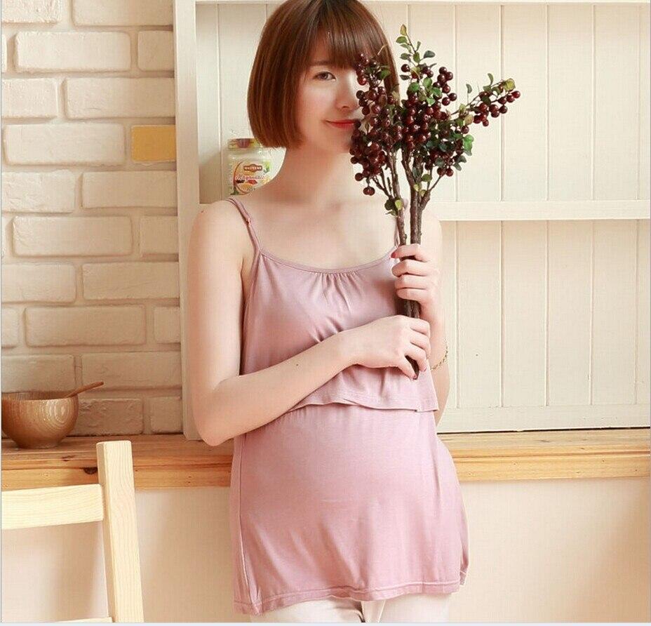 7f75f3a42 Amamentação colete roupas de Enfermagem Modal regatas barato acessível  vestidos de desgaste de maternidade roupas para mulheres grávidas gravidez  em Regatas ...