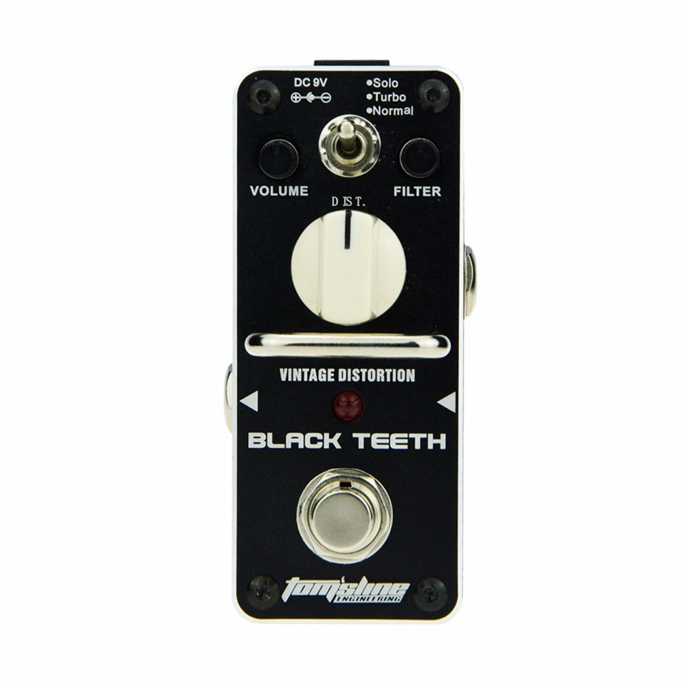 AROMA ABT-3 Guitar Effect Pedal Black Teeth Vintage Distortion Electric Guitar Effect Pedal Mini Single Effect with True Bypass aroma aov 3 ocean verb digital reverb electric guitar effect pedal mini single effect with true bypass guitar parts