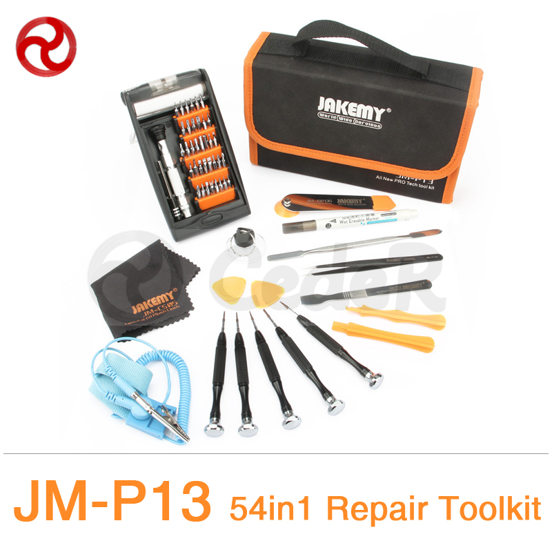JAKEMY 54 in 1 Screwdriver Set Smartphone Laptop Computer Electrical Home Furniture Repair Precision Screwdriver Tool Kit JM-P13