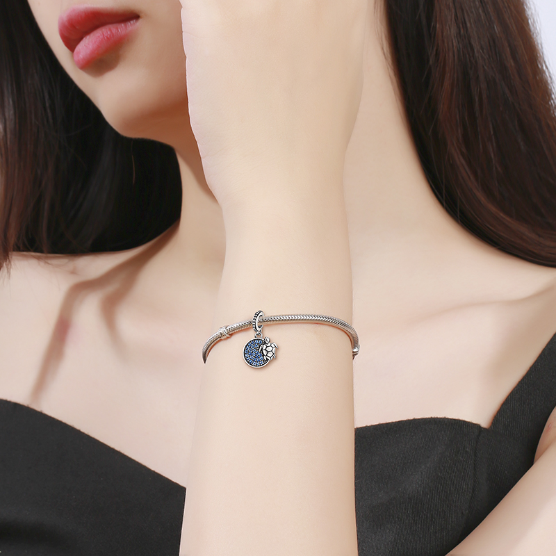 Hot sale 100 925 Sterling Silver Tortoise Pendant Charms fit Women Charm Bracelets Necklace DIY Jewelry for gift free shipping in Charms from Jewelry Accessories
