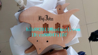 free shipping retail new headless electric guitar stick tigger stripes mahogany body in natural color+foam box F 2191