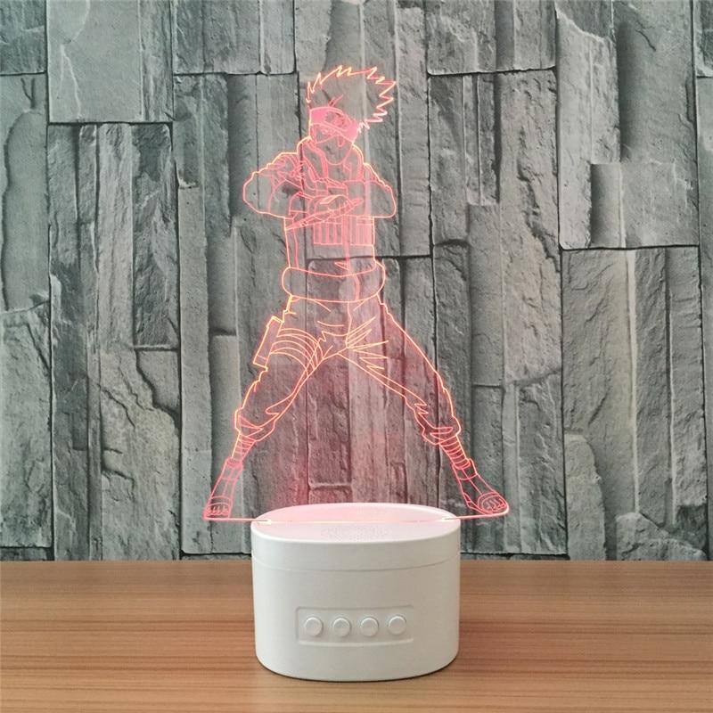 Naruto Shippuden:Ultimate Ninja Storm Uzumaki Naruto Master Jiraiya 3D With LED Light PVC Action Figure Night Lamp Toy L1149