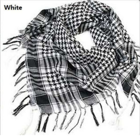 Hot Sale!!! Fashion Unisex Women Men Checkered Arab Grid Neck Keffiyeh Palestine   Scarf     Wrap   Polyester   Scarf   Shawl For Men