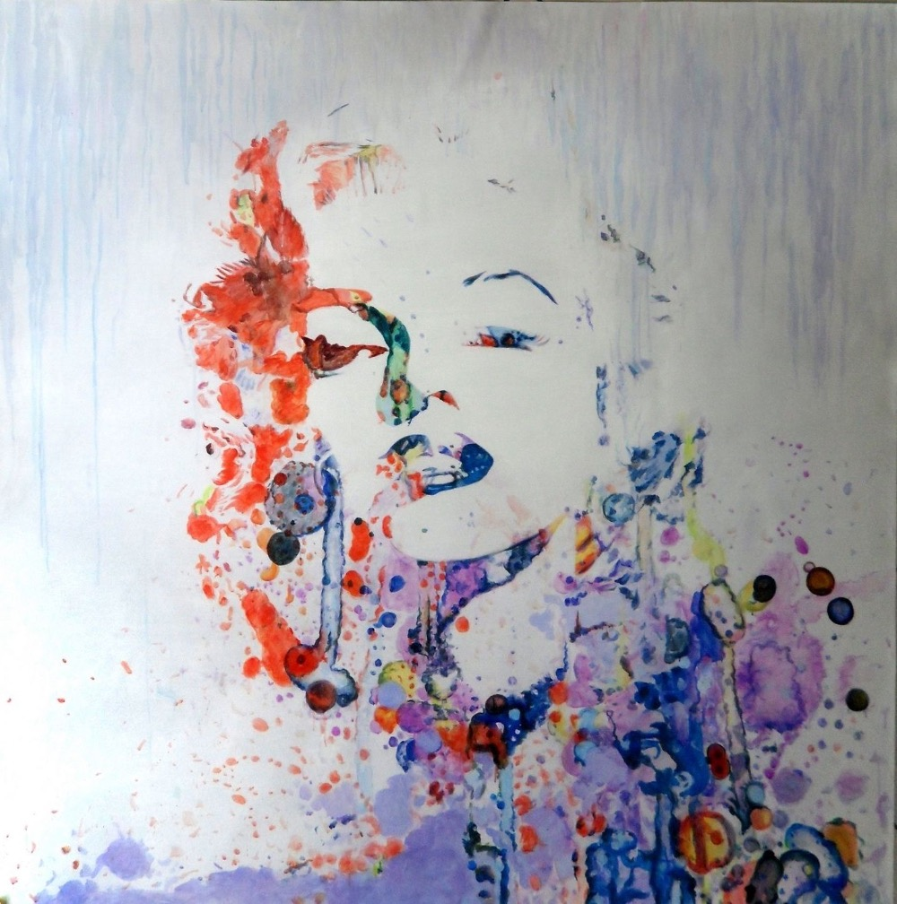 100%Handmade Marilyn Monroe Abstract 28x28 painting NOT print or poster100%Handmade Marilyn Monroe Abstract 28x28 painting NOT print or poster