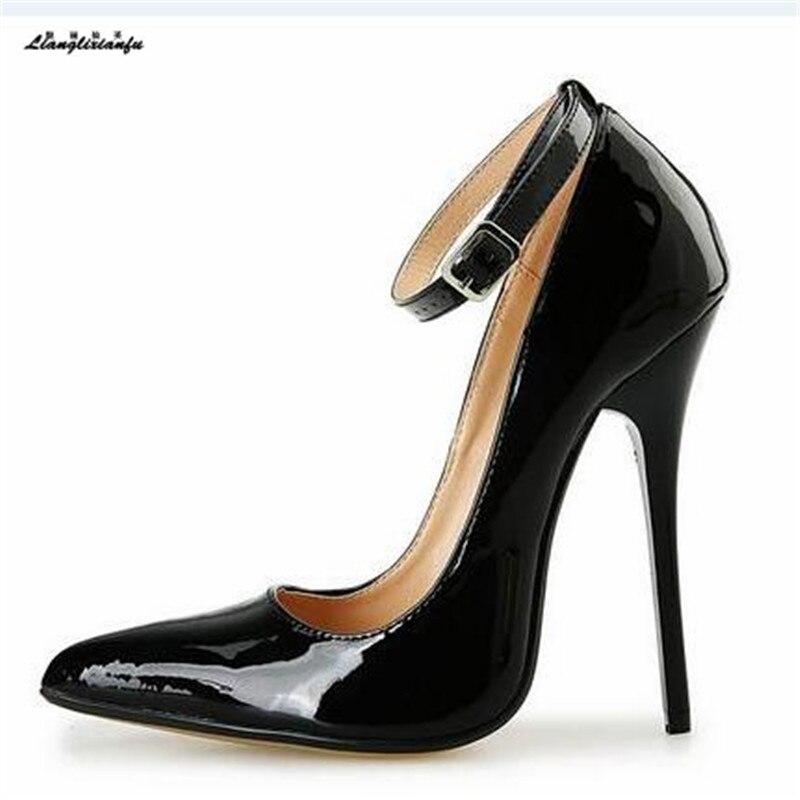ba3c7624 ... zapatos de mujer de charol. Cheap LLXF tacones Plus: 40 46 47 48 49  PRIMAVERA/otoño 14 cm tacones
