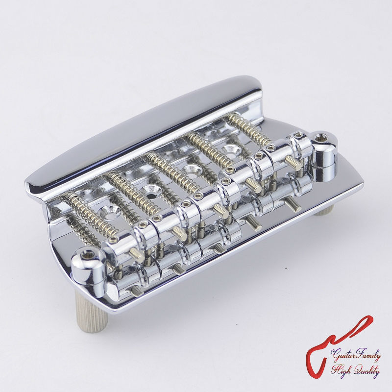 1 Set GuitarFamily  Five 5 Strings Electric Bass Bridge  For Musicman Bass Chrome  ( #1247 ) MADE IN KOREA