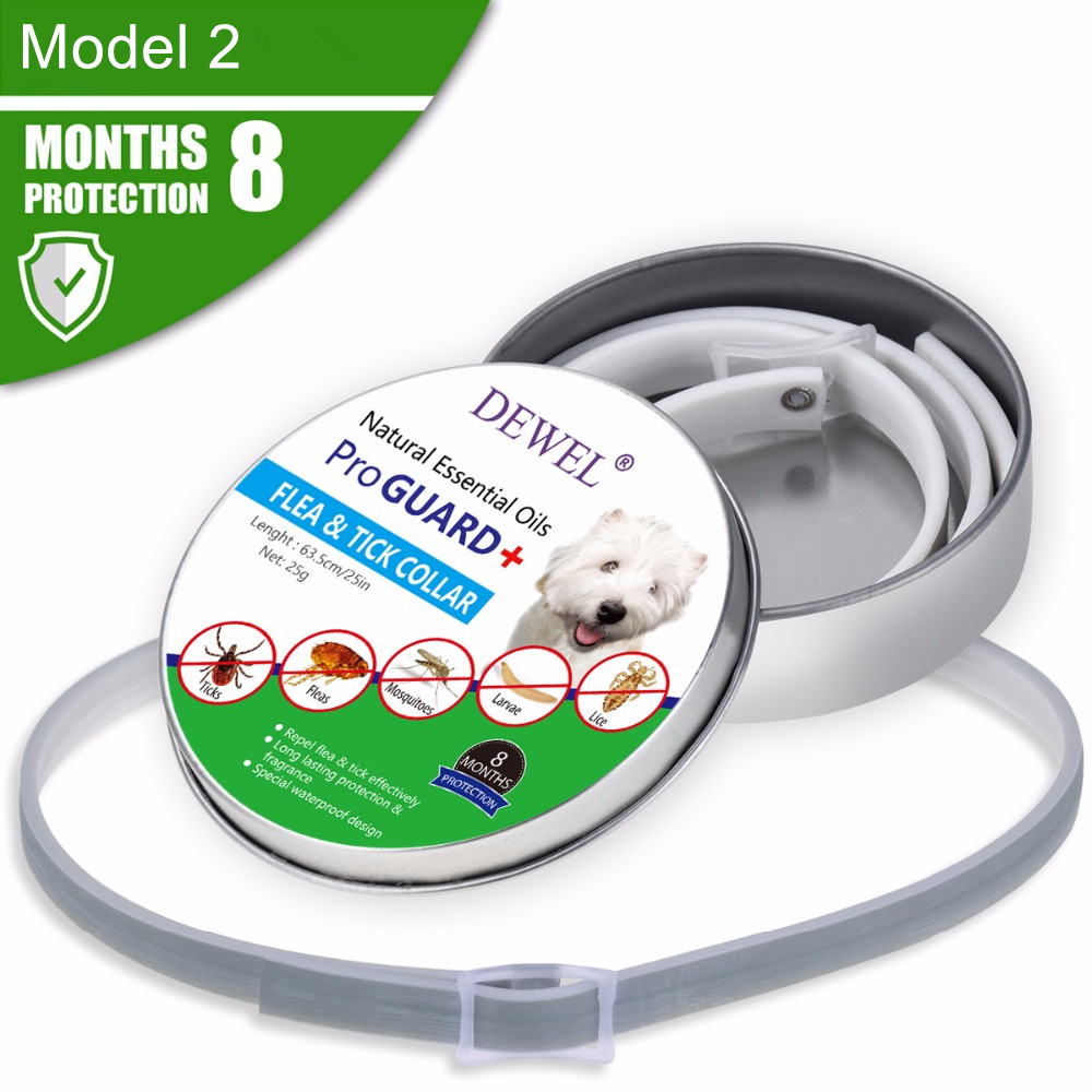 Dewel All Cat Dog Collar Anti Flea Ticks Mosquitoes Outdoor Protective Adjustable Pet Collars 8 Months Long-term Protection 1