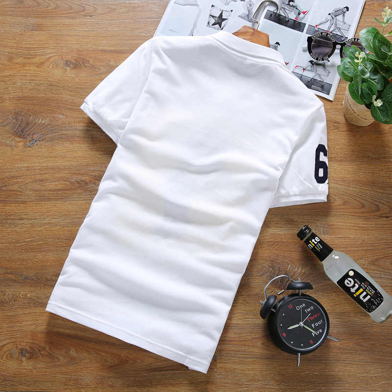 大サイズ 5XL 春秋のメンズ長袖ポロシャツマルチカラー選択綿ファッションカジュアル刺繍ポロシャツ