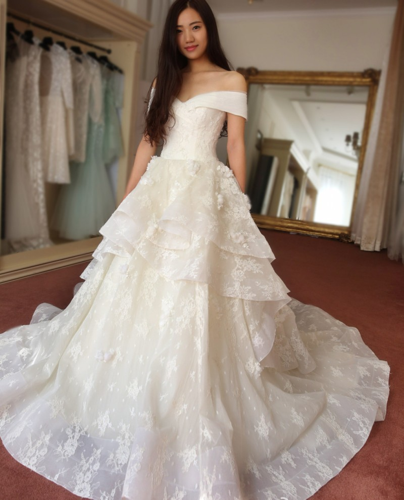 Boat Neck Lace Designer Wedding Dresses Cap Sleeve Vestidos Para Novia 2016 Vestido De Noiva Plus Size Custom Made In From Weddings