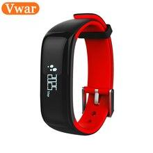 Vwar P1 Bluetooth 4.0 Smart Браслет артериального давления монитор носимый монитор сердечного ритма Смарт-Браслет Для Xiaomi смартфонов