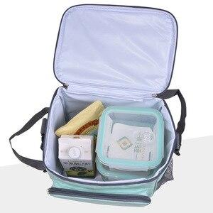 Image 2 - Na zewnątrz camping torba na piknik Ultralight przenośne rodzina koszyk piknikowy chłodnicy pudełka lodu pudełka dla dzieci w szkole torba na lunch piwo lodówka