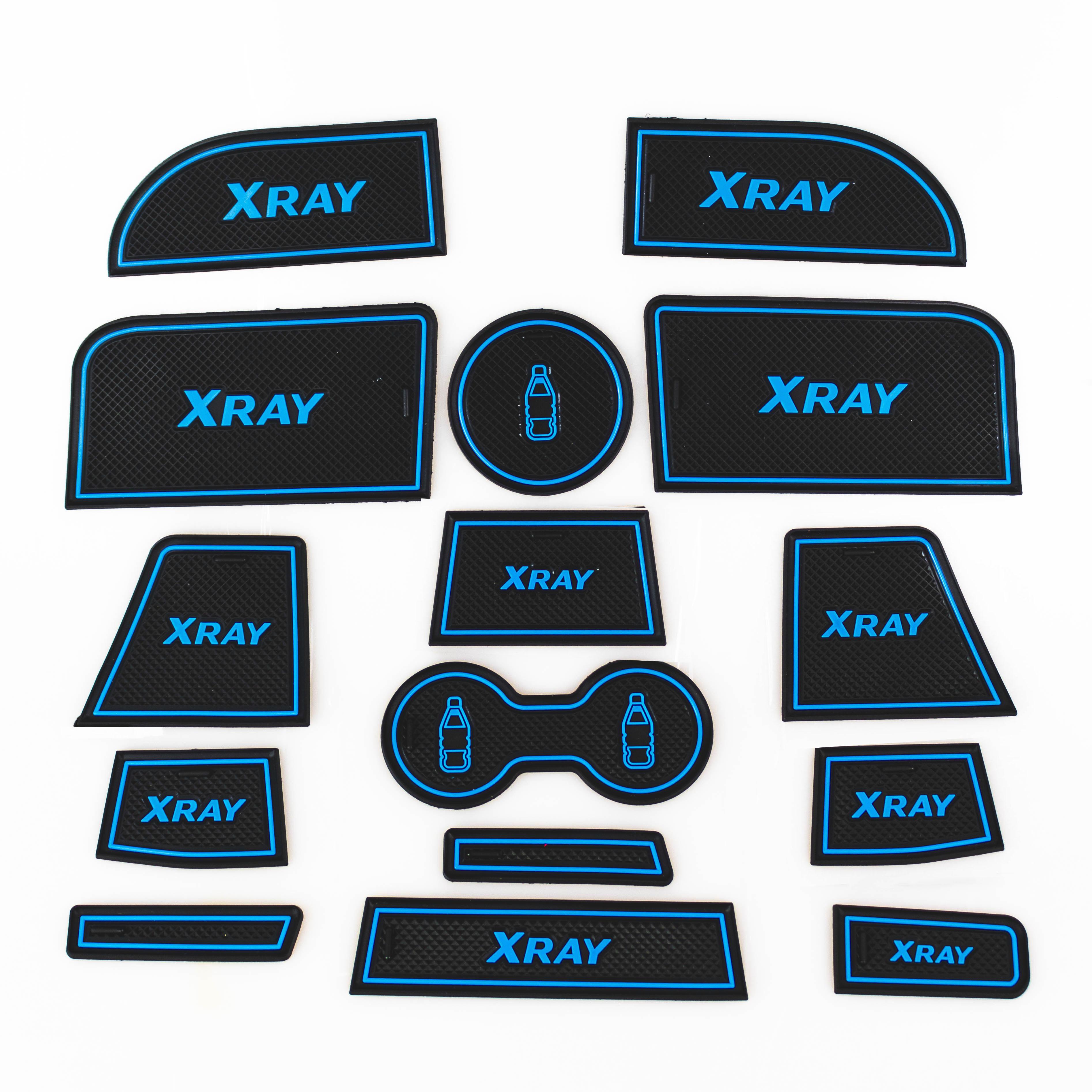 NEW XRAY Gate Slot Pad Door Groove Mat Interior Non-slip Mats Dust-proof Mat For LADA XRAY 2016-2018
