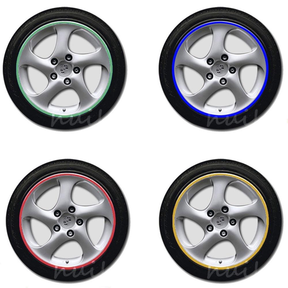 16 Strips Bike Car Motorcycle Wheel Tire Reflective Rim Stickers