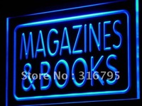 I832 Magazines Books Shop Display LED Neon Light Sign On Off Switch 20 Colors 5 Sizes