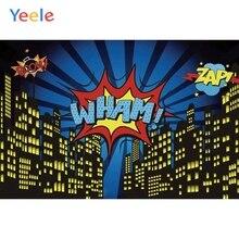 Yeele Vinyl City Super Hero Cartoon Photography Backdrop Child Baby Boy Kids Photocall Photographic Backgrounds For Photo Studio