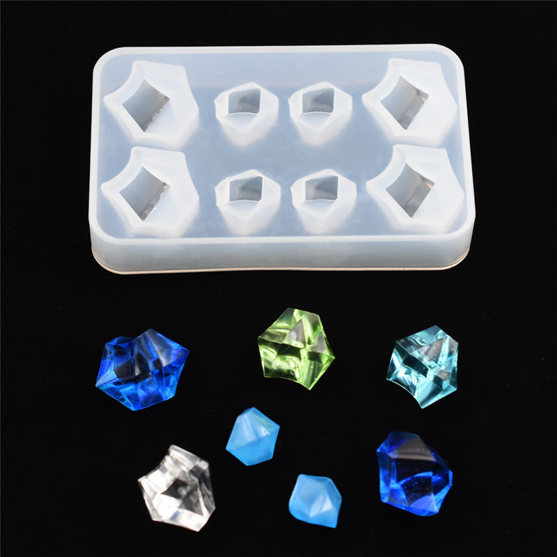 1 PC SNASAN Silicone Mold Crafts Ice Block Irregular Beads Resin Silicone Mould Jewelry Making Charms Epoxy Resin Molds