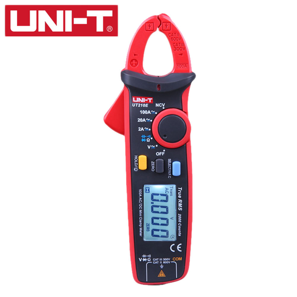 UNI-T UT210E Digital Multimeter True RMS AC DC Current Mini Clamp Meters Capacitance Tester Digital Earth Ground Multimeter true rms uni t ut210e mini digital clamp meters ac dc current voltage auto range capacitance tester non contact multimeter diode