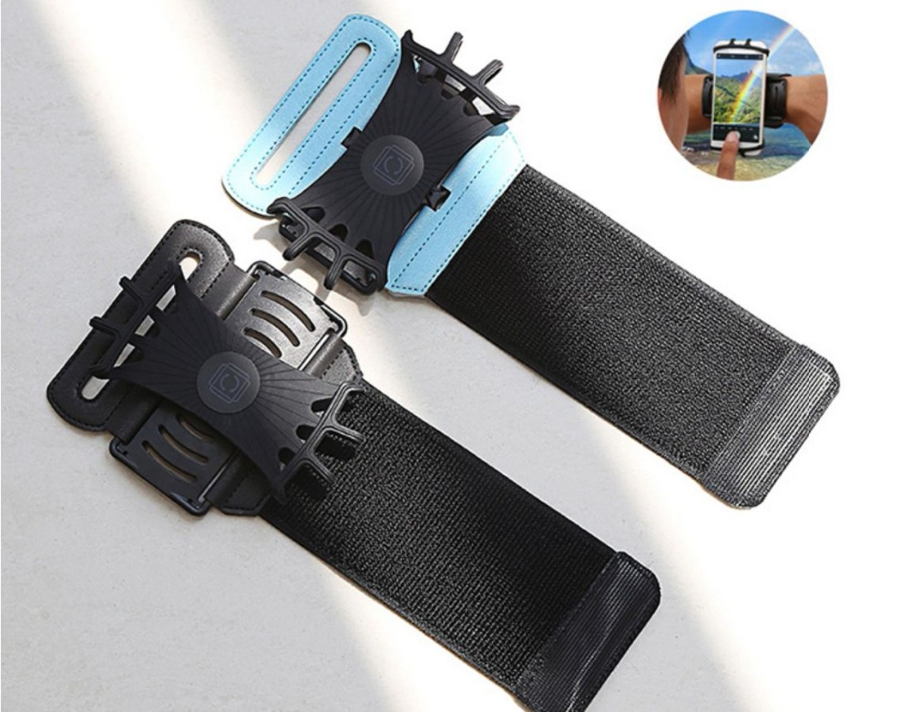 SzBlaZe Professional Rotatable Running Bag Wrist Band Arm cell phones Holder Sport pocket accessories For Gym Fitness Jogging 17
