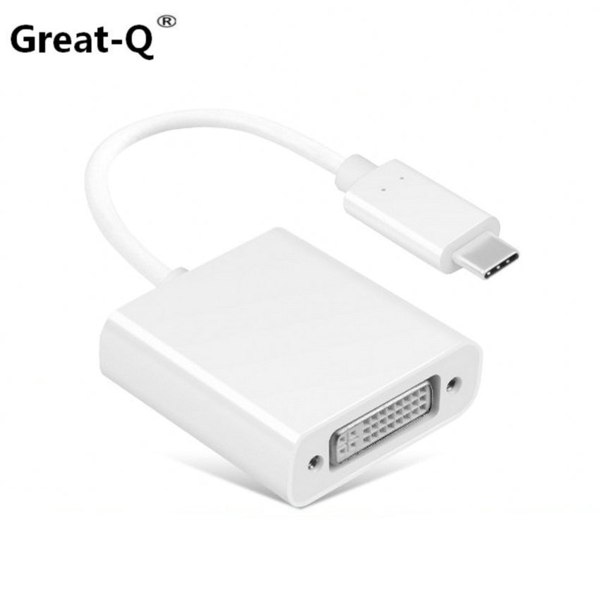 Great-Q  USB-C USB 3.1 Type C Male to DVI Female 1080P Display Monitor Adapter Convertor Connector Cable for 2015 Macbook reliable convenient usb 3 0 type a female to female plug adapter extension connector coupler
